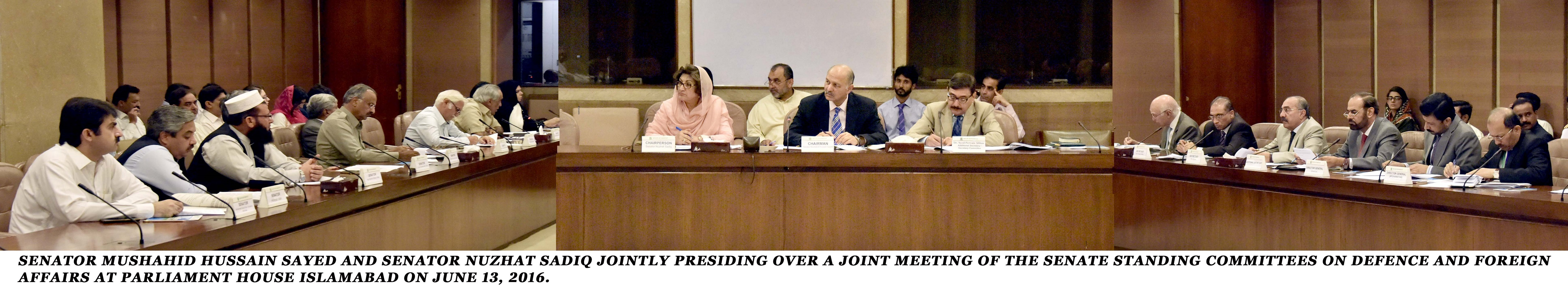 Joint meeting of Senate Defence and Foreign Affairs ...