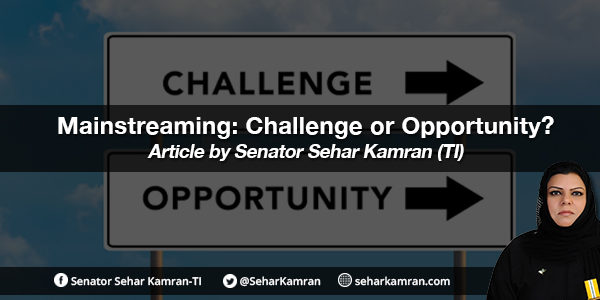Mainstreaming: Challenge or Opportunity?