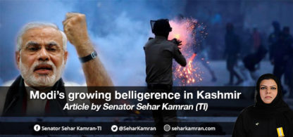 Modi's growing belligerence in Kashmir